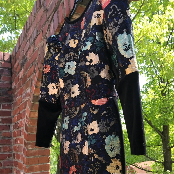 ddc41523fed34 Eloquii Puff Sleeve Dress with Velvet Detail NWT